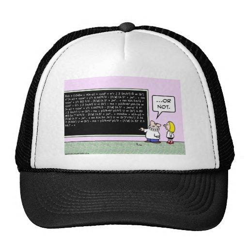 blackboard formulae scientist math trucker hats