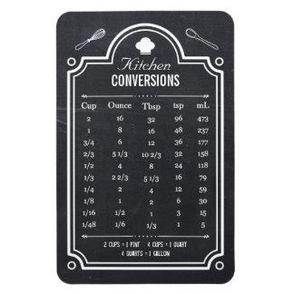 Blackboard Handy Kitchen Conversion Table Rectangular Photo Magnet
