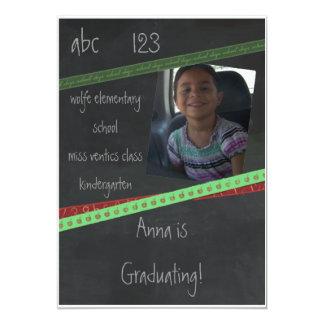 "BlackBoard Kindergarten or Preschool Invitation 5"" X 7"" Invitation Card"