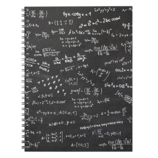 Blackboard Math Spiral Notebook