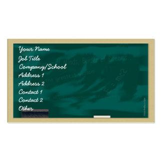 Blackboard Profile Card Pack Of Standard Business Cards