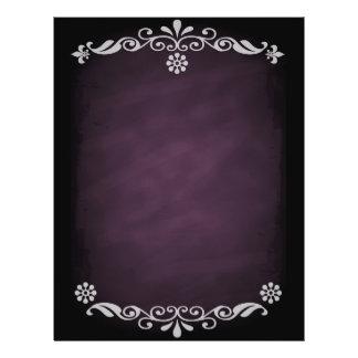 Blackboard Sketch Floral Pink 21.5 Cm X 28 Cm Flyer