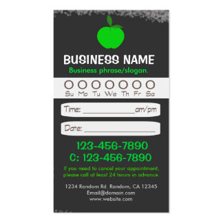 Blackboard teacher apple appointment cards pack of standard business cards