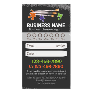 Blackboard teacher artist appointment cards business cards