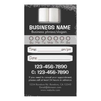 Blackboard teacher book appointment cards business card