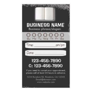 Blackboard teacher book appointment cards pack of standard business cards