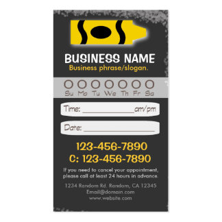 Blackboard teacher crayon appointment cards business cards