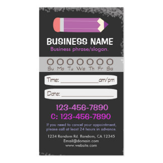 Blackboard teacher pencil appointment cards business card