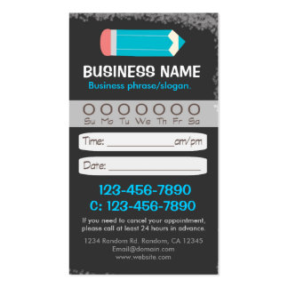 Blackboard teacher pencil appointment cards pack of standard business cards
