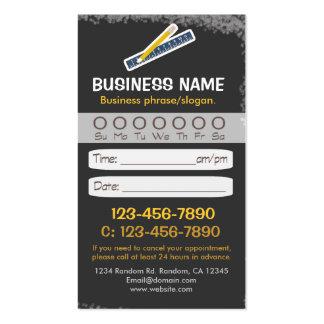 Blackboard teacher ruler appointment cards business cards