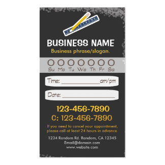 Blackboard teacher ruler appointment cards pack of standard business cards
