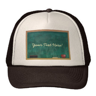 Blackboard Teacher Student Custom Cap