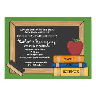 Blackboard Teacher's Retirement Invitation 2