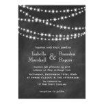 Blackboard Twinkle Lights Wedding Invitation 2