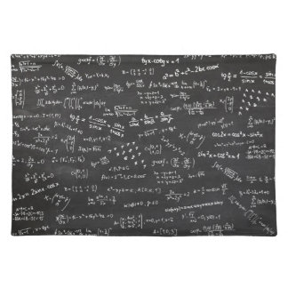 Blackboard With Math Formulas Placemat