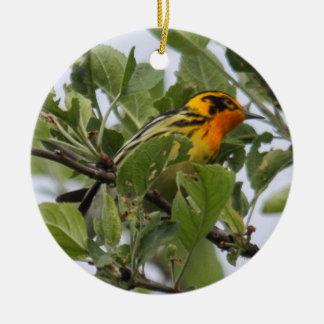 Blackburnian Warbler Christmas Ornament