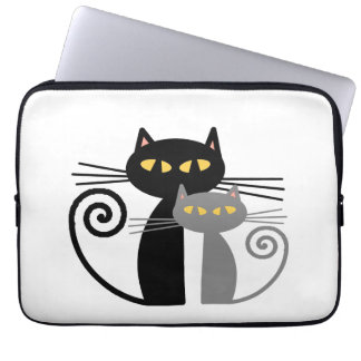 BlackCat, Grey Cat Laptop Sleeve