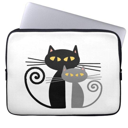 BlackCat, Grey Cat Laptop Sleeve