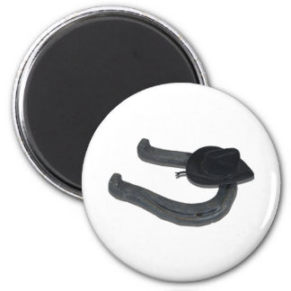 BlackCowboyHatHorseshoe082611 Refrigerator Magnets