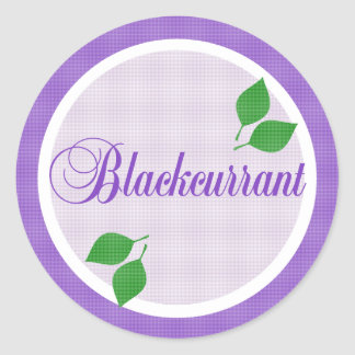 Blackcurrant Fruit Label Sticker