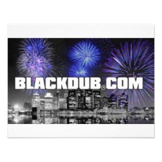 blackdub personalized invitation