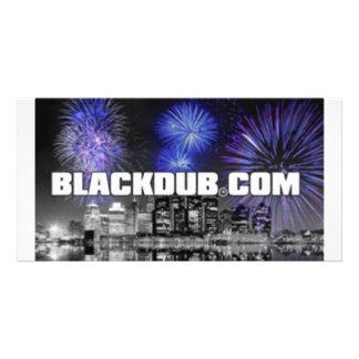 blackdub photo card template