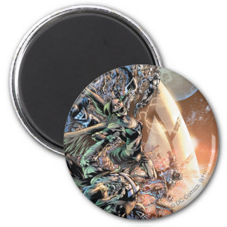 Blackest Night Group and Moon 6 Cm Round Magnet
