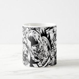 Blackest Night Group Painting - Black and White Coffee Mug