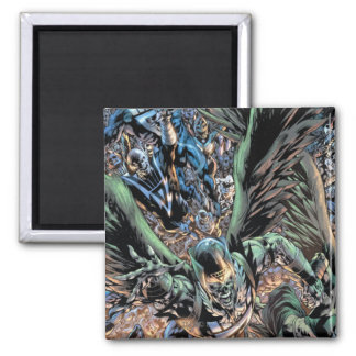Blackest Night Group Painting - Color Square Magnet