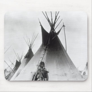 Blackfoot Brave, near Calgary, Alberta, 1889 Mouse Pad