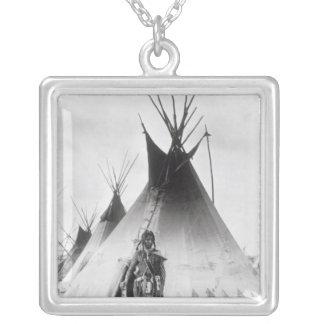 Blackfoot Brave, near Calgary, Alberta, 1889 Custom Necklace