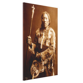 Blackfoot chief Aatsista-Mahkan Canvas Art