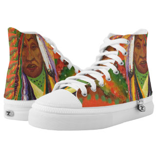 BlackFoot High Top Shoes Printed Shoes