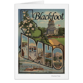 Blackfoot, Idaho - Large Letter Scenes Cards
