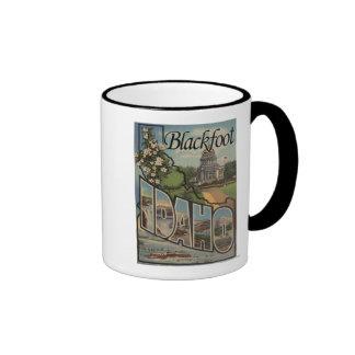 Blackfoot, Idaho - Large Letter Scenes Mug