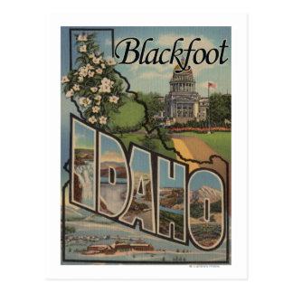 Blackfoot, Idaho - Large Letter Scenes Postcard