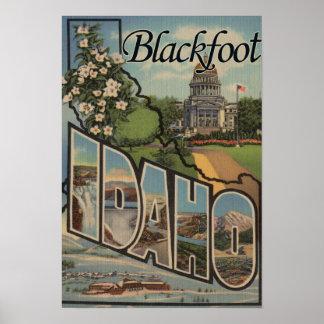 Blackfoot Idaho - Large Letter Scenes Posters