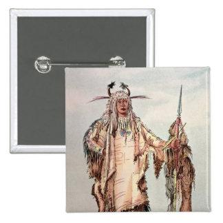 Blackfoot Indian Pe-Toh-Pee-Kiss, The Eagle Ribs 15 Cm Square Badge