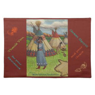 Blackfoot Indians Cloth Place Mat