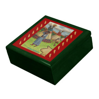 Blackfoot Indians Large Square Gift Box