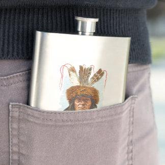 Blackfoot Sioux Chief: Big Razor Flasks