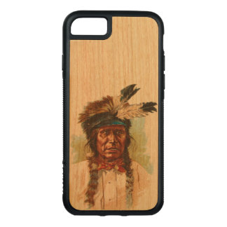 Blackfoot Sioux Chief: Red Thunder Carved iPhone 8/7 Case
