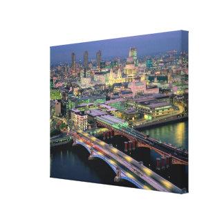 Blackfriar's Bridge Stretched Canvas Prints