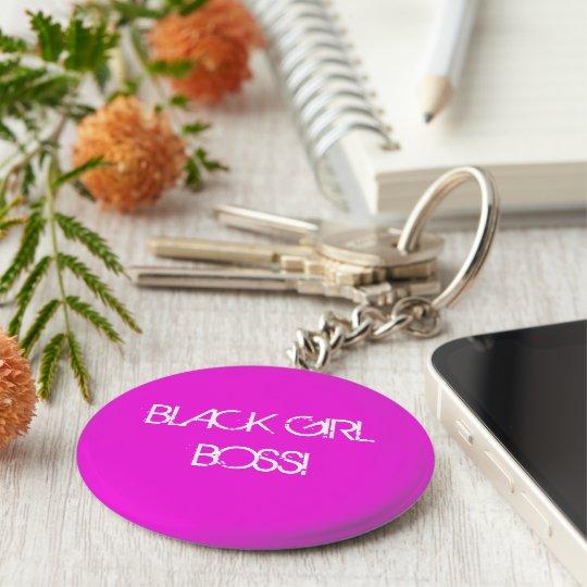 "BlackGirlBoss 2.25"" Basic Button Keychain"