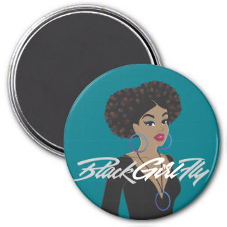 BlackGirlFly Fridge Magnet