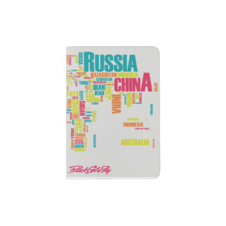 BlackGirlFly Map Passport Cover