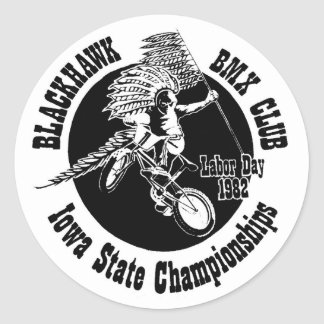 Blackhawk BMX Sticker