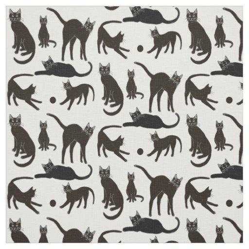 Blackie the Black Cat Fabric