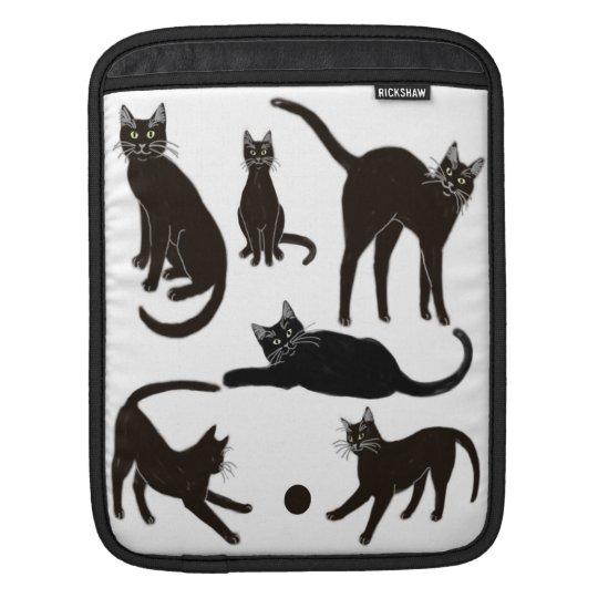 Blackie the Black Cat Rickshaw Sleeve iPad Sleeves