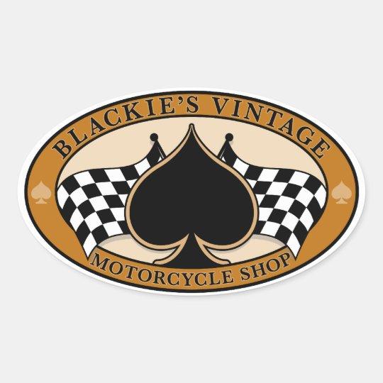 Blackie's Vintage Motorcycle Shop Oval Sticker